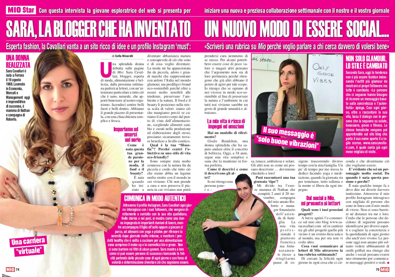 Intervista Sara Cavallari